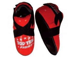 Chránič nohou Top Ten Fight (Barva ČERVENÁ, Velikost S)