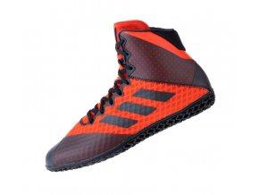 Zápasnické obuv Adidas Mat Wizard 4. černá červená