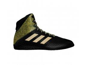 Zápasnické Boty Adidas Mat Wizard Hype černo zlatá