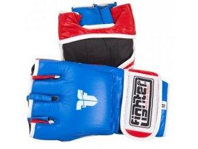 Fighter MMA rukavice (Barva Modrá, Velikost M)