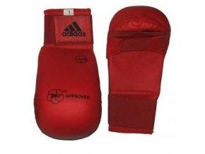 Adidas Karate chrániče WKF - Tsuki Červená (Barva ČERVENÁ, Velikost S)