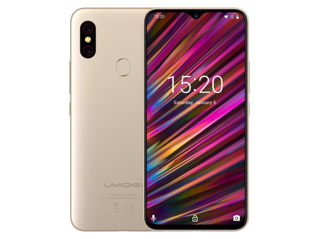 Chytrý telefon UMIDIGI F1, 4GB/128GB, zlatá / ROZBALENO