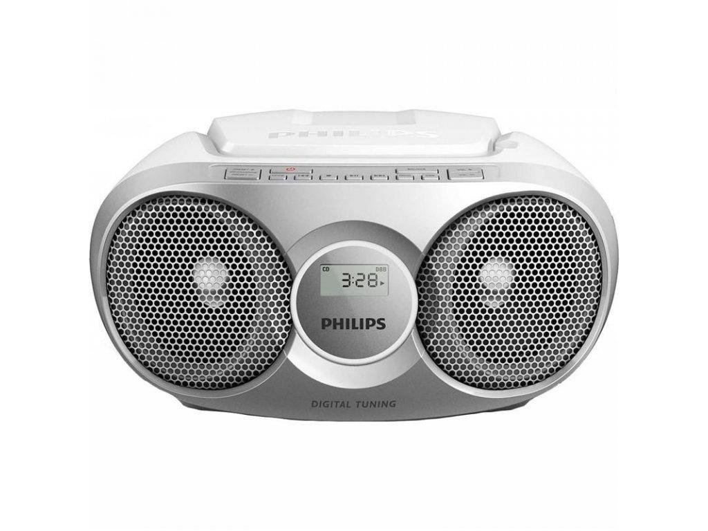 Radiopřijímač s CD Philips AZ215S stříbrný / ROZBALENO