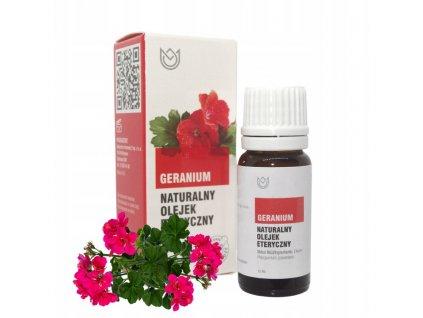 GERANIUM olejek eteryczny 12 ml Naturalne Aromaty