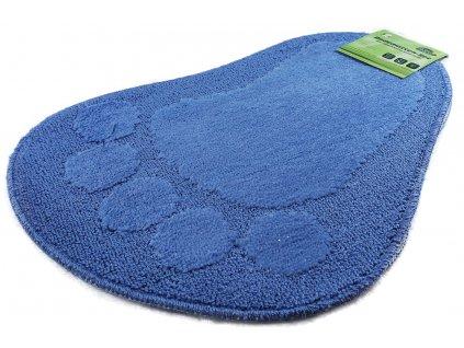 Green Leaves - Koberec do koupelny set 2 ks 40x60 cm modrý
