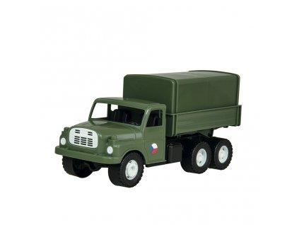 Auto nákladní Tatra 148 khaki vojenská / plast / 30cm