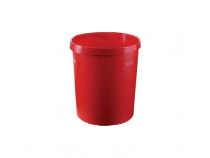 odpadkovy kos 18 l cerveny plast
