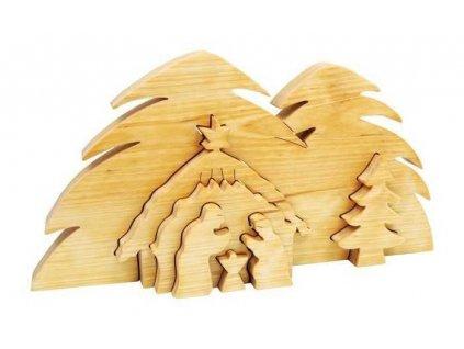 small foot drevene vanocni ozdoby 3d jeslicky betlem