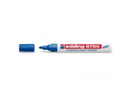 Popisovač Edding 8750, lakový, 2-4 mm, modrý, na mastný povrch