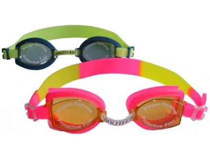Dětské silikonové plavecké brýle Acra P4138 /více barev/  - růžové