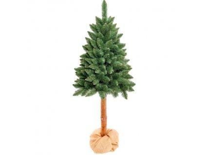 Vánoční stromek/stromeček borovice na přírodním stonku 220 cm umělý / ROZBALENO
