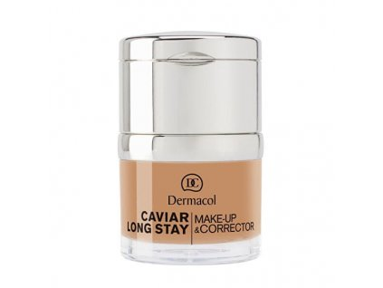 Dlouhotrvající make-up Dermacol s výtažky z kaviáru a zdokonalovací korektor / odstín 2 fair / 30ml