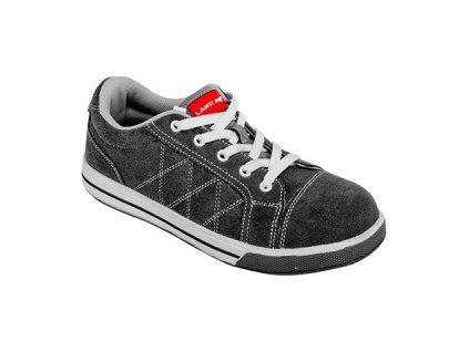 LAHTI PRO Nízké semišové boty, šedo-červené / Velikost 44