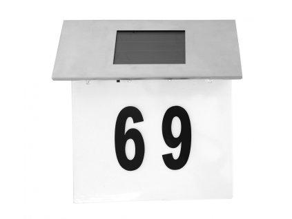 Štítek s číslem domu osvětleným LED diodami