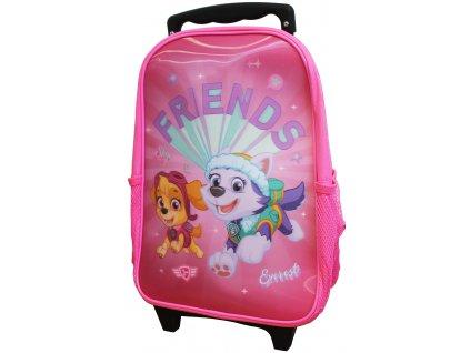Dětský batoh na kolečkách Paw Patrol / růžová