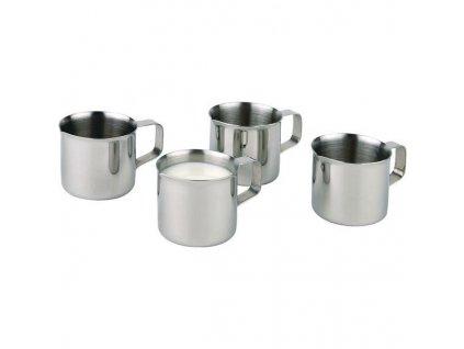 Konvička na mléko Home Proffesional, 35 ml / stříbrná