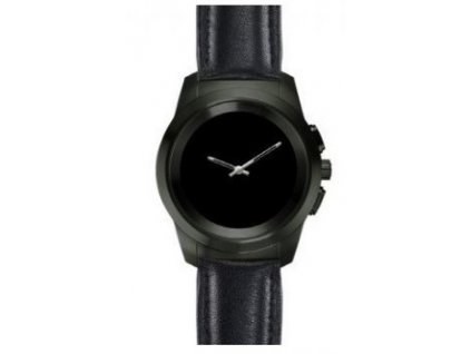 smartwatch zetime premium petite titan black leather flat