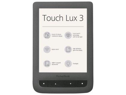 Čtečka e-knih PocketBook Touch Lux 3 / šedá / ZÁNOVNÍ
