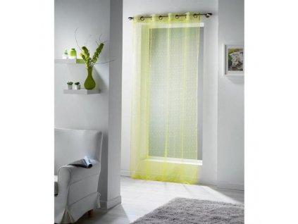 5307 pruhledny zaves v zelene barve
