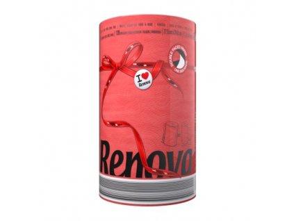 Renova kuchyňské utěrky 120 útržků - červená (Karton 10ks)