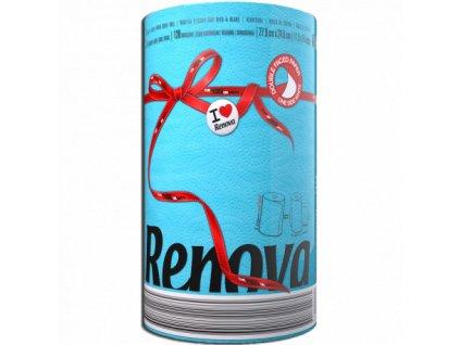 Renova kuchyňské utěrky 120 útržků - modrá (Karton 10ks)