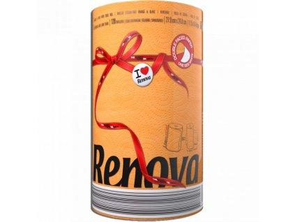 Renova kuchyňské utěrky 120 útržků - oranžová (Karton 10ks)