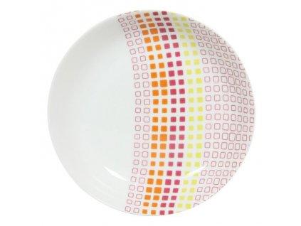 assiette creuse en porcelaine d 21 5cm carreaux mu