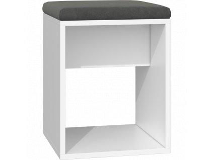 nowoczesny taboret krzeslo luna biel poduszka