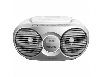 Radiopřijímač s CD Philips AZ215S stříbrný / ZÁNOVNÍ