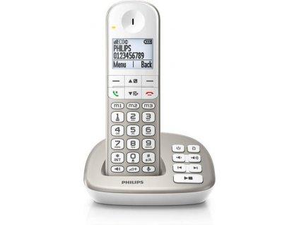 Philips bezdrátový telefon s záznamníkem XL495 / stříbrný / XL4951S/05 / ZÁNOVNÍ