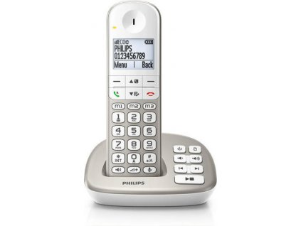 Philips bezdrátový telefon s záznamníkem XL495 / stříbrný / XL4951S/05 / ROZBALENO