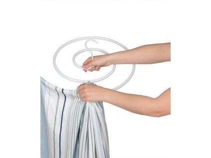 Trockenfix - Věšák na prádlo / bílý / spirálový