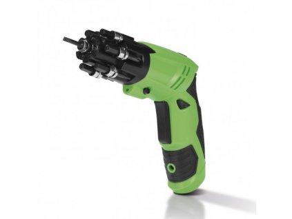 EASYmaxx - Aku šroubovák s bitovým bubnem a kloubem 3,6 V zelená/černá