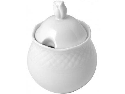 Cukřenka porcelánová Arianna / 250 ml / bílá