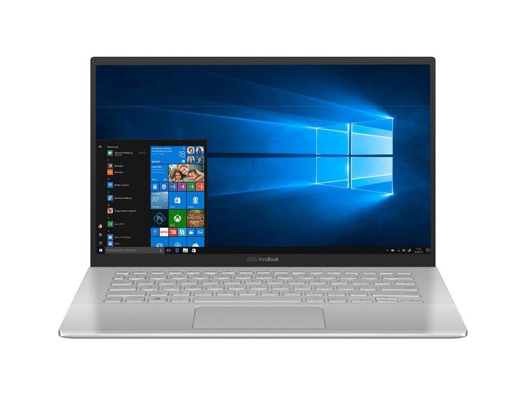 """Ntb Asus VivoBook A420UA-EK147TS i3-7020U, 4GB, 128GB, 14"""", Full HD, bez mechaniky, Intel HD 620, BT, CAM, W10 S - stříbrný / ZÁNOVNÍ"""