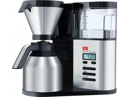 Kávovar Melitta Aroma Elegance Therm Deluxe 1012-06 / černá / stříbrná / ROZBALENO