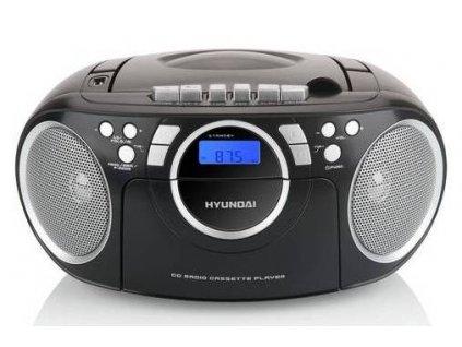 Radiomagnetofon s CD Hyundai TRC 788 AU3BS / černá / stříbrná / ROZBALENO