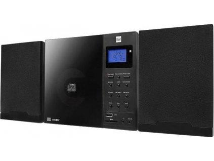 Stereo systém Dual DAB 102 AUX, CD, SD, USB / černá