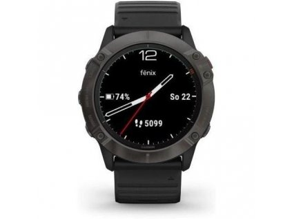GPS hodinky Garmin fenix6X PRO Solar (MAP/Music) / černé/titanium / ROZBALENO