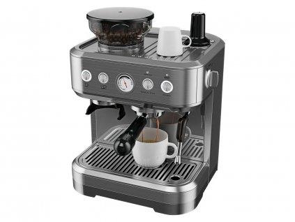 Profesionální celokovový pákový espresso kávovar s mlýnkem / ROZBALENO