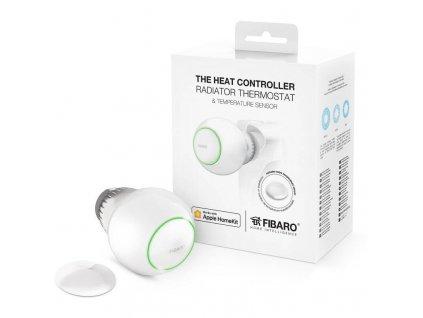 Bezdrátová termohlavice Fibaro a teplotní čidlo pro Apple HomeKit (FGBHT-PACK) / POŠKOZENÝ OBAL