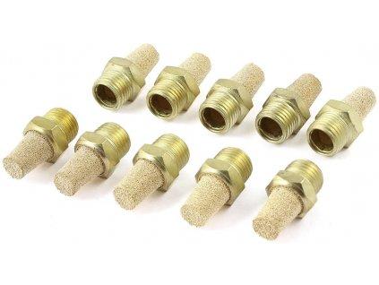 Pneumatický tlumič výfuku 10 kusů / zlatá