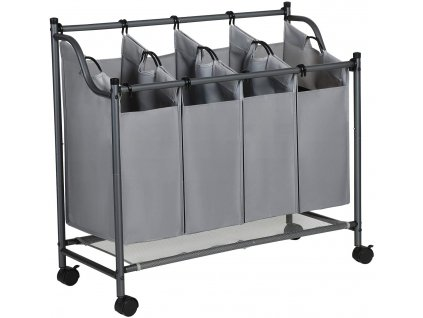 Koš na prádlo 96 x 39 x 83 cm / šedá