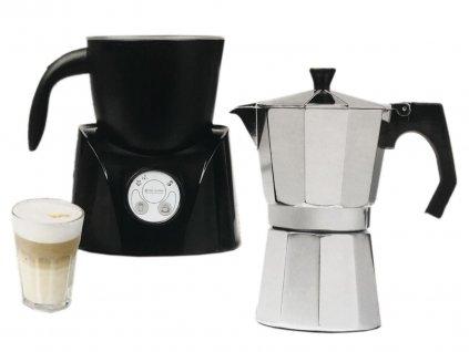 Kávovar na espresso a pěnič mléka 2v1 Tec Star MD 17036 / ROZBALENO
