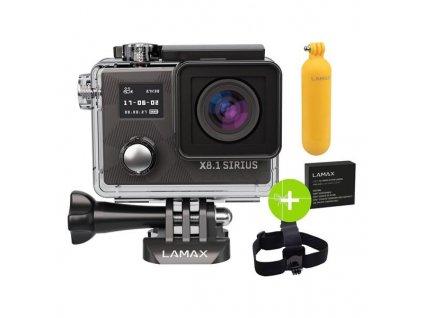 Outdoorová kamera LAMAX X8.1 Sirius + dárek - černá / ROZBALENO