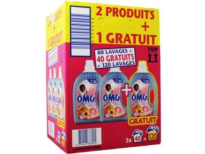 OMO Prací gel - přírodní esence broskve a grapefruitu 3v1 / 2 l / 3x40 dávek / AKCE 2+1 ZDARMA