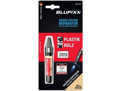 Speciální lepidlo Blufixx na plast a dřevo / Světle hnědá