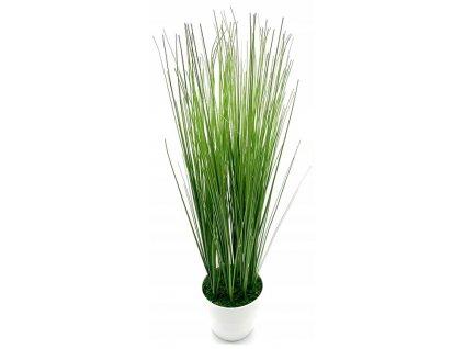 Umělá tráva v květináči / dekorace / 65 cm