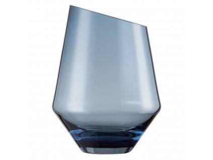 Skleněná váza modrá DIAMONDS / 22 x 16,5 cm