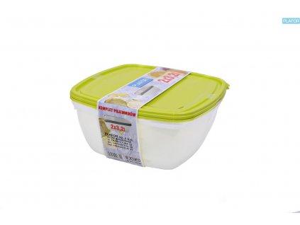 2dílná sada potravinových dóz Plafor / 3,2 l / - zelené